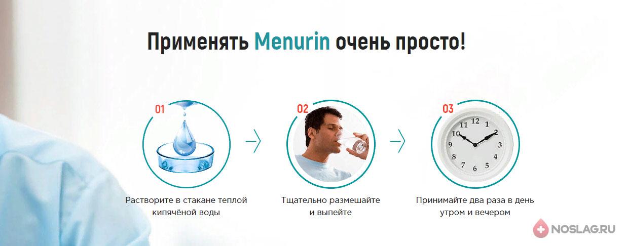 Менурин от простатита Menurin3