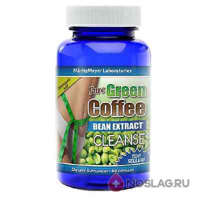 Капсулы с экстрактом зеленого кофе для очищения кишечника (60 капсул)